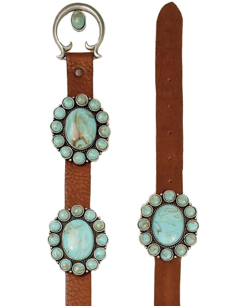 Double D Ranch Women's Amarillo Concho Belt, Brown, hi-res