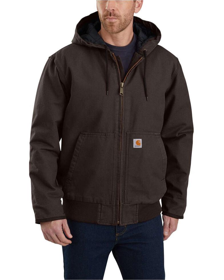 Carhartt Men's Sandstone Lined M 130 Active Work Jacket , Dark Brown, hi-res