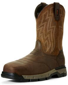 Ariat Men's Rebar Flex Western Work Boots - Composite Toe, Brown, hi-res