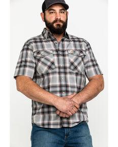 Carhartt Men's Rugged Flex Bozeman Plaid Short Sleeve Work Shirt , Dark Grey, hi-res