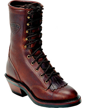 "Boulet Men's Packer 11"" Western Boots, Brown, hi-res"