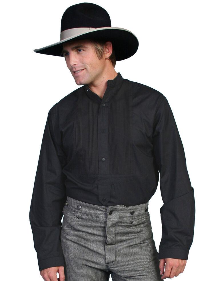 Scully Men's Range Wear Pleated Front Shirt, Black, hi-res