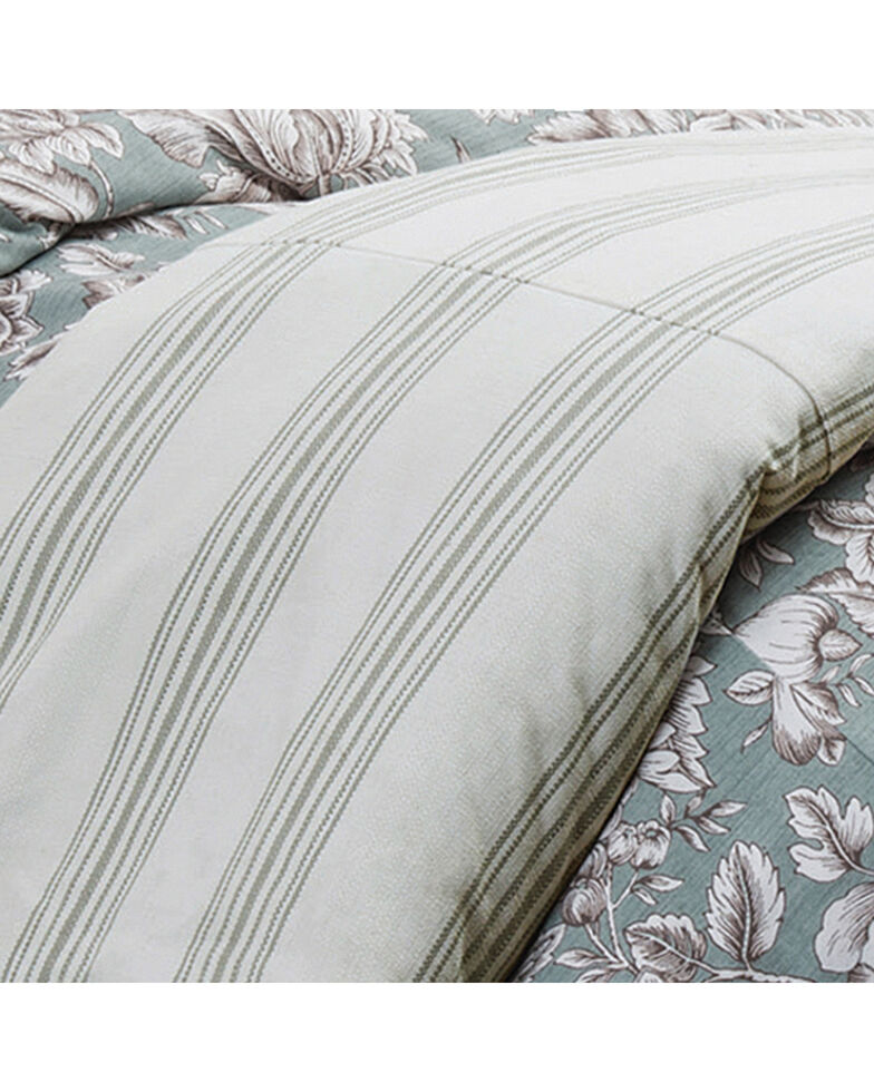 HiEnd Accents Prescott Taupe Stripe Duvet - Super King, Multi, hi-res