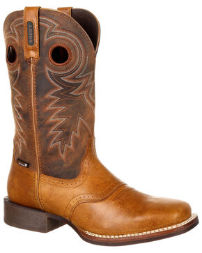Rocky Men's Dakota Ridge Waterproof Western Boots - Square Toe, Lt Brown, hi-res