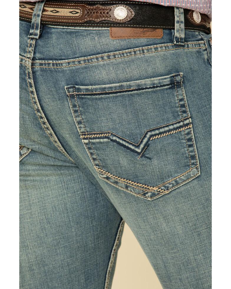 Moonshine Spirit Men's Pardner Medium Wash Stretch Slim Boot Jeans , Blue, hi-res