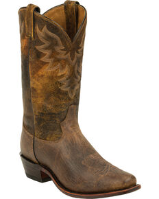 Tony Lama Men's Tan Jaws Americana Western Boots, Tan, hi-res