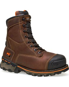 """Timberland Pro Boondock Waterproof Insulated 8"""" Lace-Up Work Boots - Soft Toe, Brown, hi-res"""