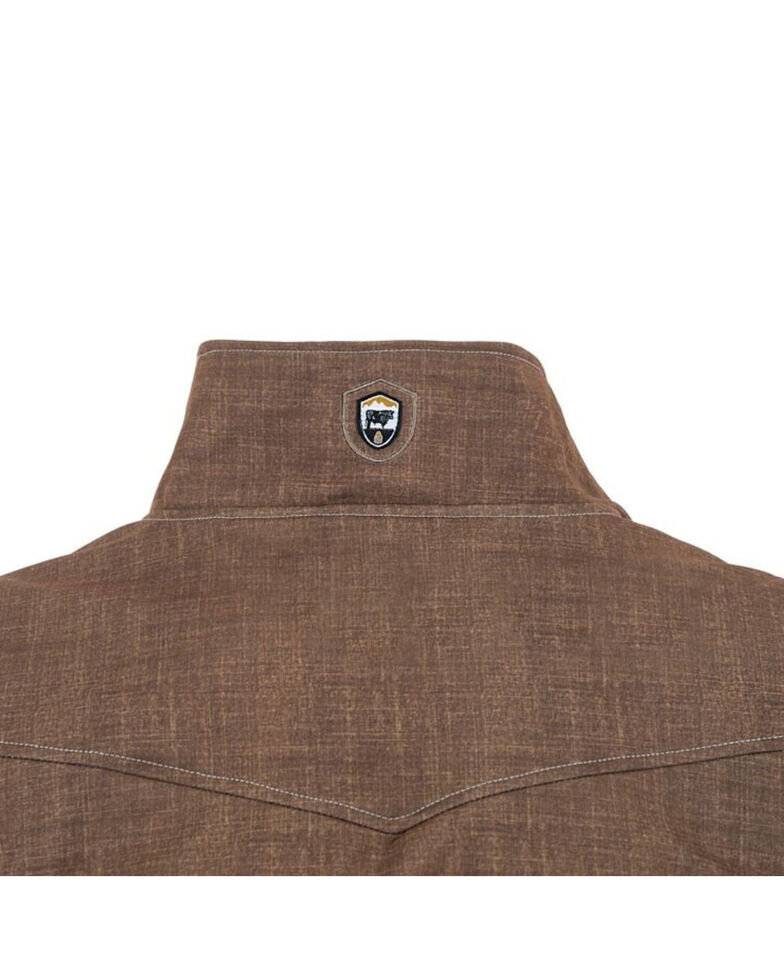 STS Ranchwear Boys' Brown Youth Perf Jacket , Brown, hi-res