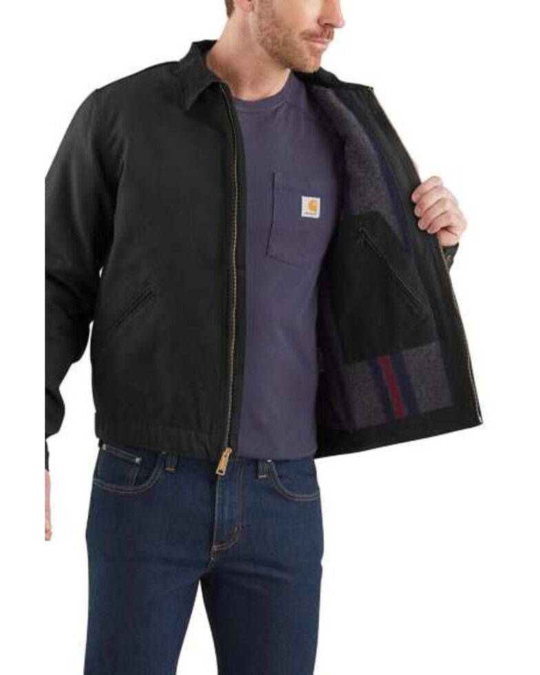 Carhartt Men's Duck Detroit Work Jacket - Big , Black, hi-res