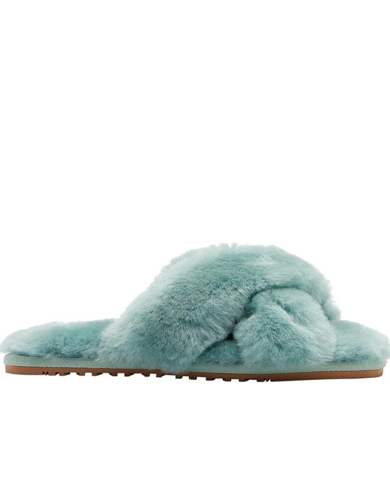 Lamo Footwear Women's Light Green Serenity Sheepskin Sandals, Light Green, hi-res