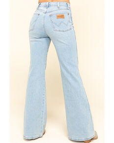 Wrangler Modern Women's High Rinse Light Wash Fly High Flare Jeans, Blue, hi-res