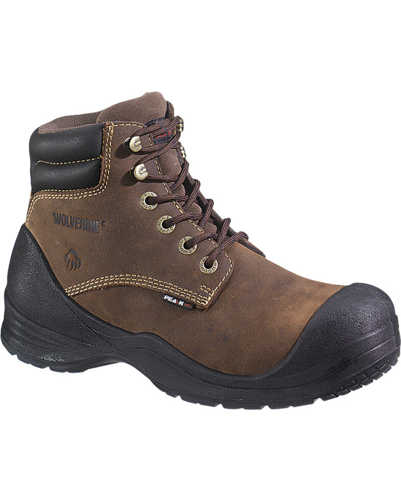 "Wolverine Men's Rangel 6"" Waterproof Work Boots - Comp Toe, Brown, hi-res"