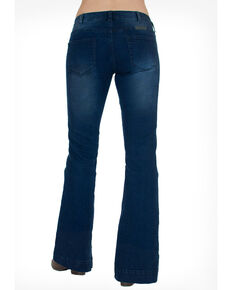 Cowgirl Tuff Women's Dark Wash Just Tuff Trousers, Indigo, hi-res