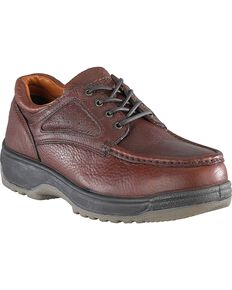 Florsheim Men's Compadre Lace-Up Oxford Shoes - Composite Toe, Brown, hi-res