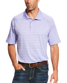 Ariat Men's AriatTEK Heat Series Turquoise AC Polo, Purple, hi-res