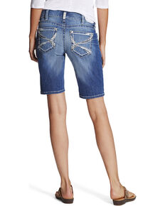 Ariat Women's Mid Rise Bermuda Shorts, Blue, hi-res
