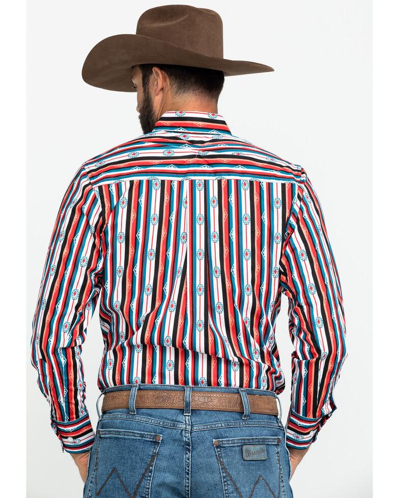Wrangler 20X Men's Advanced Comfort Performance Aztec Print Long Sleeve Western Shirt , Orange, hi-res