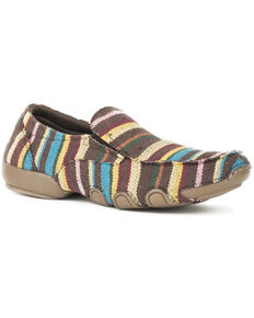 Roper Women's Liza Striped Driving Mocs , Multi, hi-res