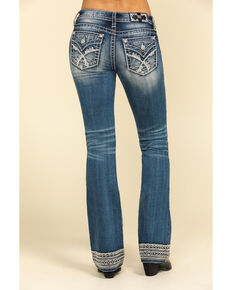 "Miss Me Women's Medium Lace 34"" Bootcut Jeans, Blue, hi-res"