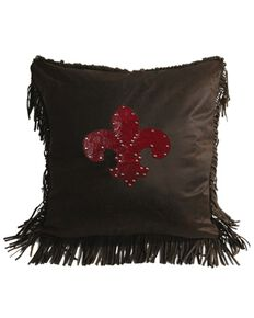HiEnd Accents Cheyenne Fleur de Lis Pillow, Multi, hi-res