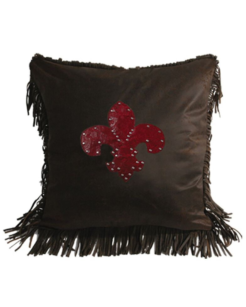 HiEnd Accents Cheyenne Fleur de Lis Pillow, Multi, hi-res