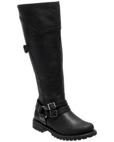 Harley Davidson Women's Lomita Moto Boots - Round Toe, Black, hi-res