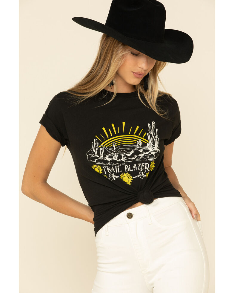 Ali Dee Women's Trailblazer Graphic Short Sleeve Tee , Black, hi-res