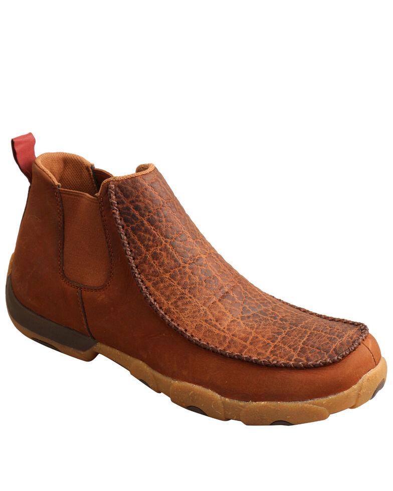 Twisted X Men's Chelsea Driving Shoes - Moc Toe, Tan, hi-res