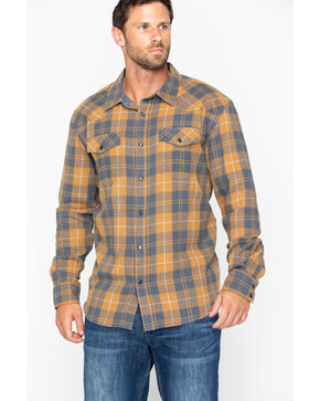 Cody James Men's Long Sleeve Cordova Flannel Shirt , Navy, hi-res