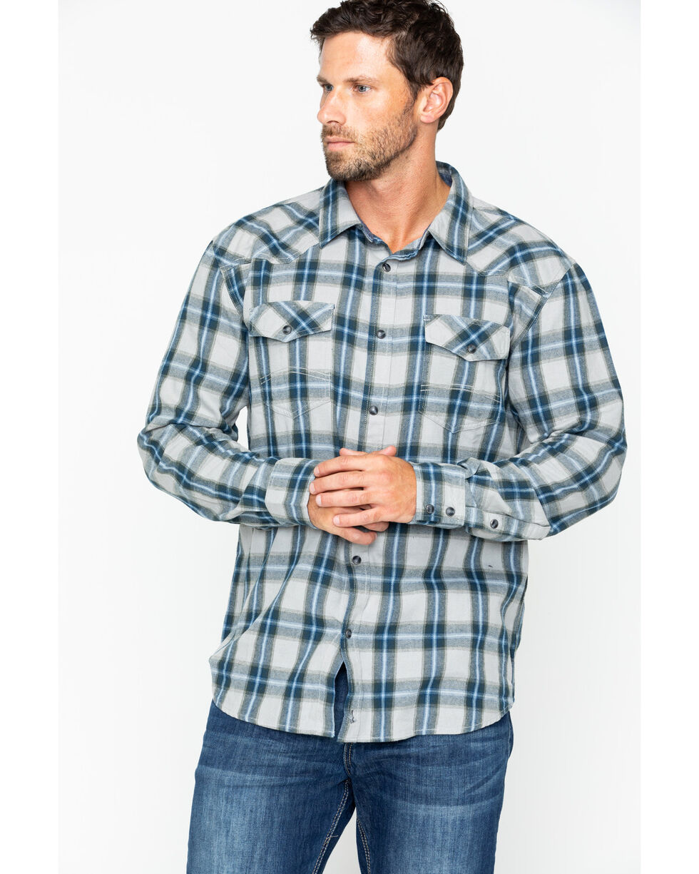 Cody James Men's Kethican Flannel Shirt , Grey, hi-res