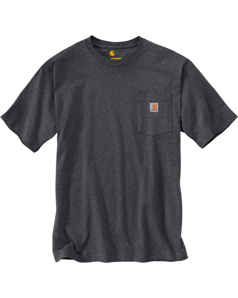 Carhartt Short Sleeve Pocket Work T-Shirt - Big & Tall, Grey, hi-res
