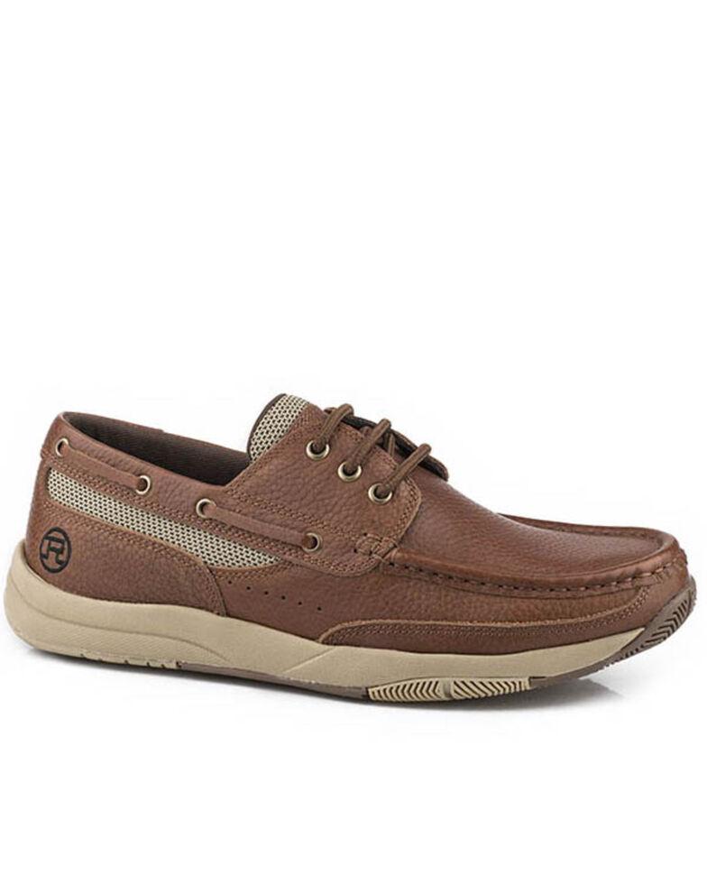 Roper Men's Clearcut Boat Shoes - Moc Toe, Brown, hi-res