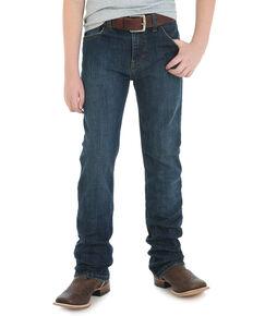 Wrangler 20X Boys' No. 42 Glendive Slim Straight Jeans , Blue, hi-res
