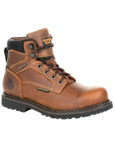 Georgia Boot Men's Giant Revamp Waterproof Work Boots - Soft Toe, Brown, hi-res