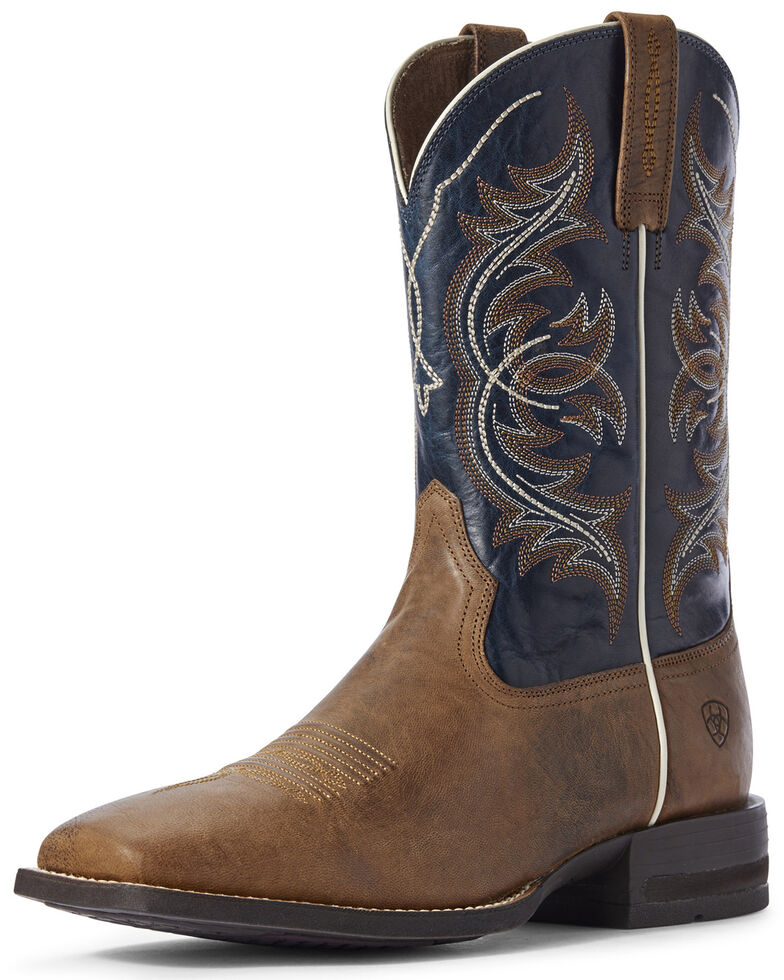 Ariat Men's Spruce Holder Western Boots - Wide Square Toe, Brown, hi-res