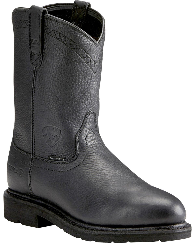 Black Work Boots - Steel Toe | Boot Barn