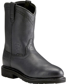 Ariat Sierra Men's Black Work Boots - Steel Toe, Black, hi-res