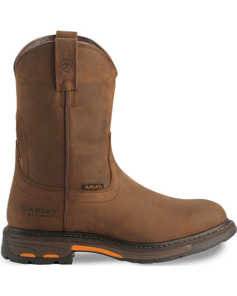 Ariat H2O WorkHog Work Boots - Composite Toe, Distressed, hi-res