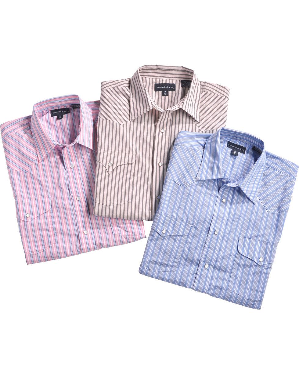 Panhandle Men's Assorted Striped Western Shirt - Big, Multi, hi-res