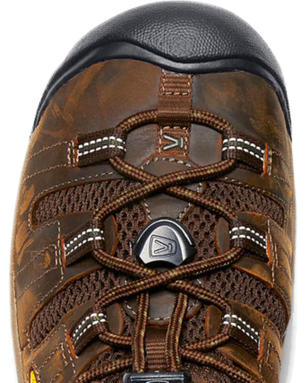 Keen Men's Atlanta Cool Water Resistant Work Shoes, Brown, hi-res