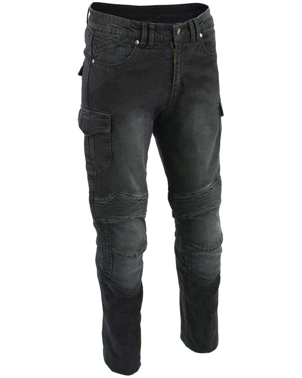 "Milwaukee Leather Men's Black 32"" Aramid Reinforced Straight Cut Denim Jeans - XBig, Black, hi-res"