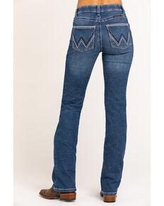 Wrangler Women's Ultimate Riding Williow Lovette Bootleg Jeans, Blue, hi-res