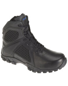 Bates Men's Shock Work Boots - Soft Toe, Black, hi-res