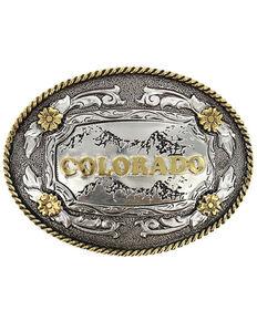 Cody James® Oval Dual-Tone Colorado Buckle, Multi, hi-res