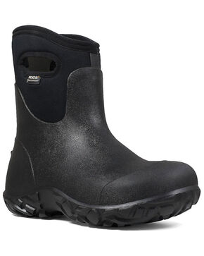 Bogs Men's Black Workman Waterproof Work Boots - Composite Toe, Black, hi-res