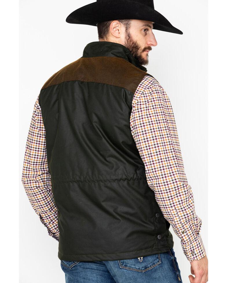 Outback Trading Co. Men's Brant Oil Dual Entry Vest , Olive, hi-res