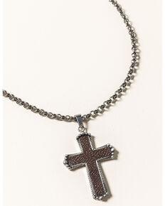 Cody James Men's Silver Cross Necklace , Silver, hi-res