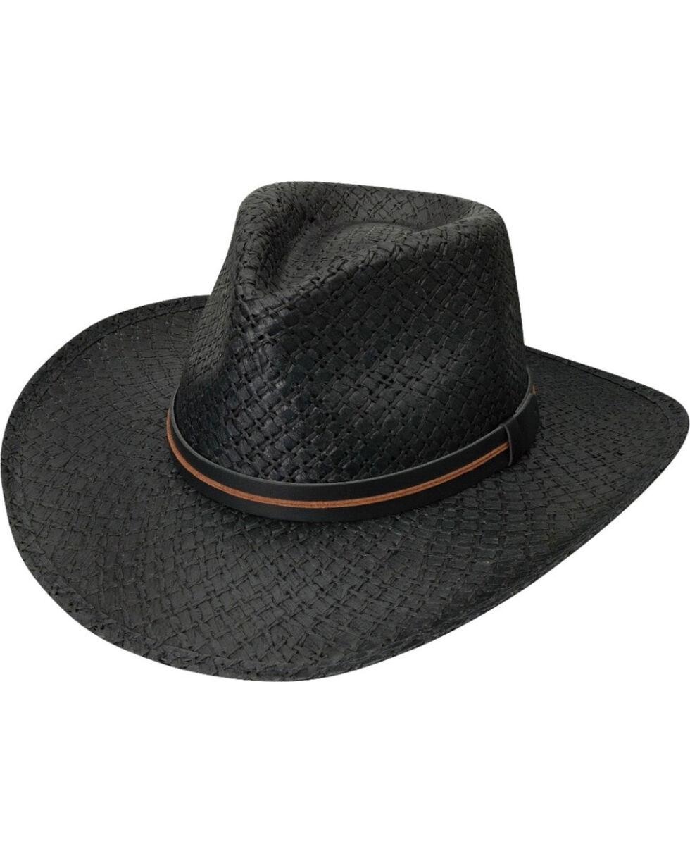 Black Creek Men's Black Toyo Straw Hat , Black, hi-res