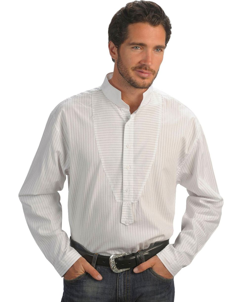 Rangewear by Scully Frontier Stripe Long Sleeve Shirt, White, hi-res