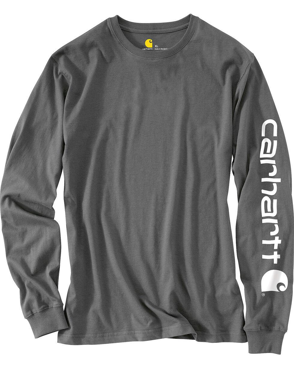 Carhartt Men's Charcoal Graphic Logo T-Shirt , Heather Grey, hi-res